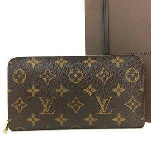 💯Auth Louis Vuitton Monogram Porte Monnaie Wallet